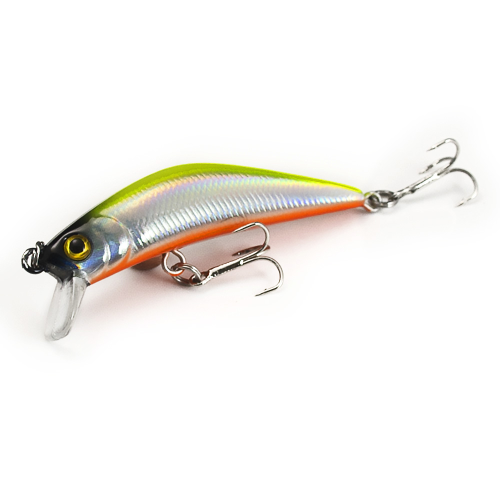 1pc countbass minnow hard lure 57mm trout fishing bait for Best bait for freshwater fishing