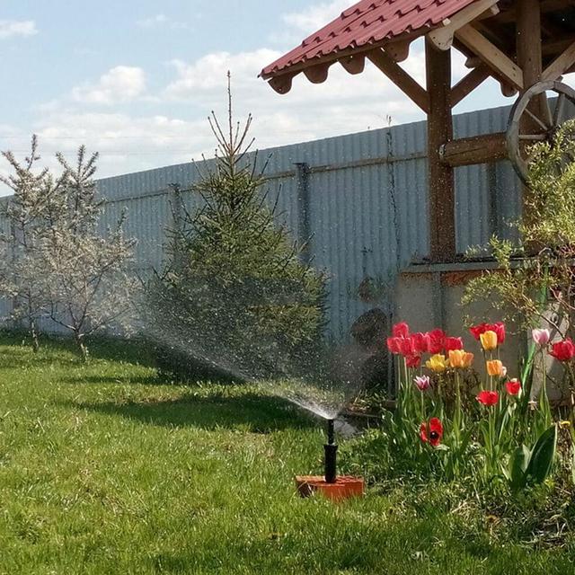 Garden Sprinkler Spike Lawn Grass 25-360 Degree Adjustable Rotating Water Sprayer For Garden Irrigation System Drop shipping