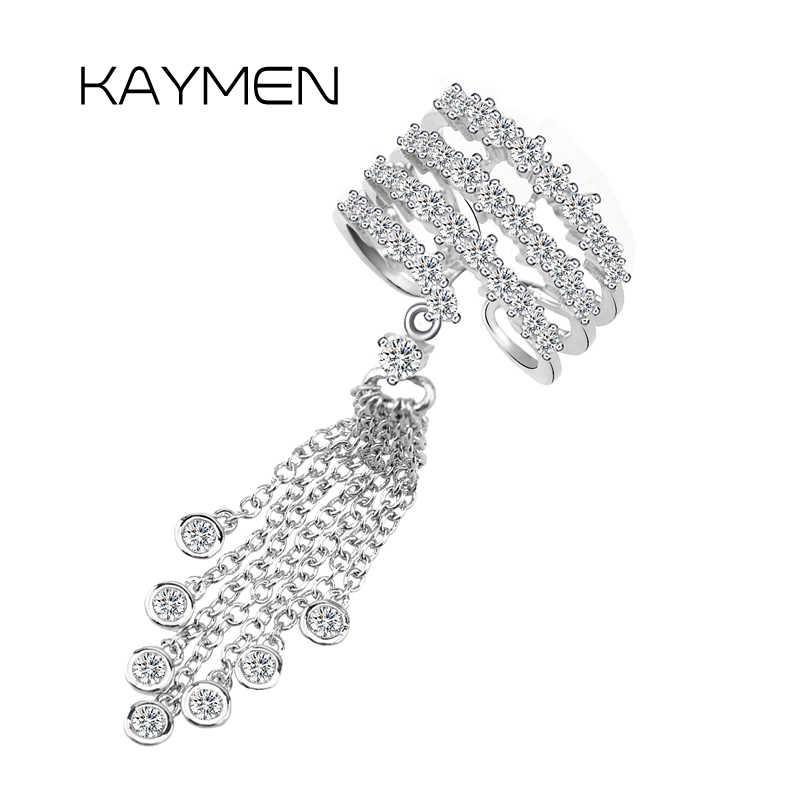 Новинка, хорошее качество, обручальное кольцо с кисточками для женщин, медное с цирконием, с изменяемым размером, массивное кольцо для девушек, модные ювелирные украшения в стиле панк