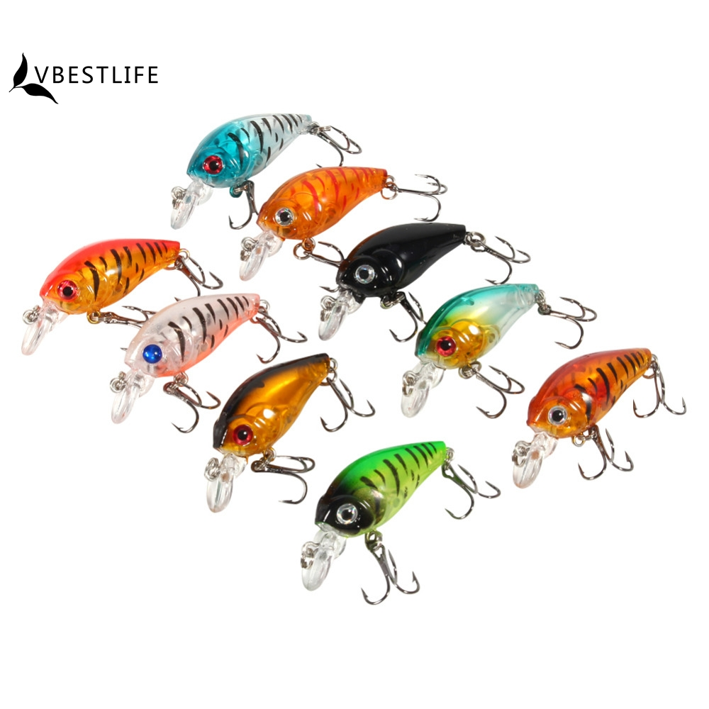 9pcs/Lot Plastic Artificial Minnow Fishing Lures Bait CrankBait Bass Twin Treble Hook Crank Bait Fishhook Tackle tools 4.5cm/4g 1pcs high quality 5 4g 6cm fishing lures minnow crank bait crankbait bass tackle treble hooks fishing tackles hard baits pesca