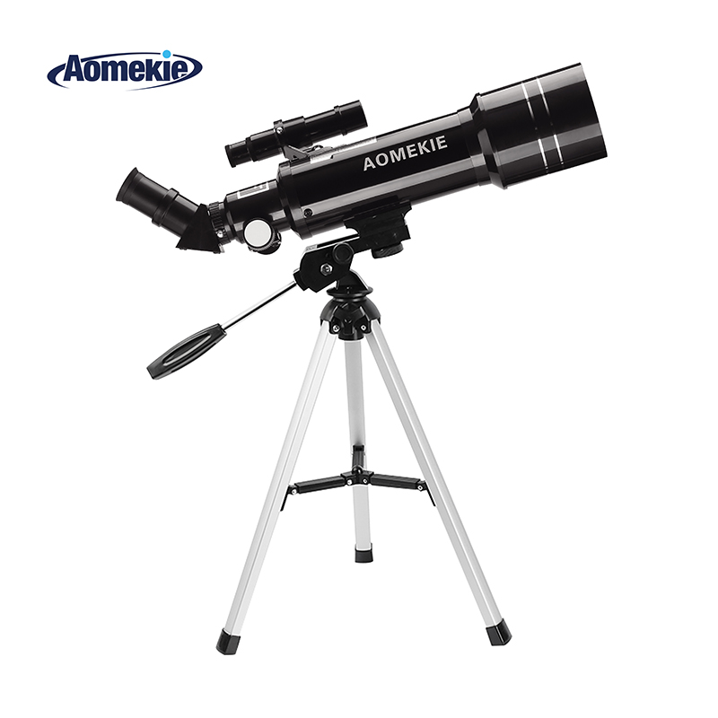 AOMEKIE F40070M Astronomical Telescope with Compact Tripod Terrestrial Space Telescope Erecting Image Moon Watching Kid Gift