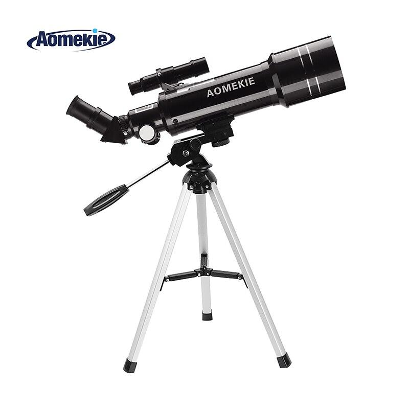 AOMEKIE F40070M астрономический телескоп с компактный штатив наземного пространство телескоп возведении изображения Moon просмотра подарок для де...