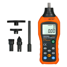 Digital Tachometer Anemometer Handheld Contact Motor Tachometer LCD Speedometer Tach RPM Meter Contact-type Digital Tachometer protmex pt6208a lcd display high performance revolution meter contact type digital tachometer with data logging backlight