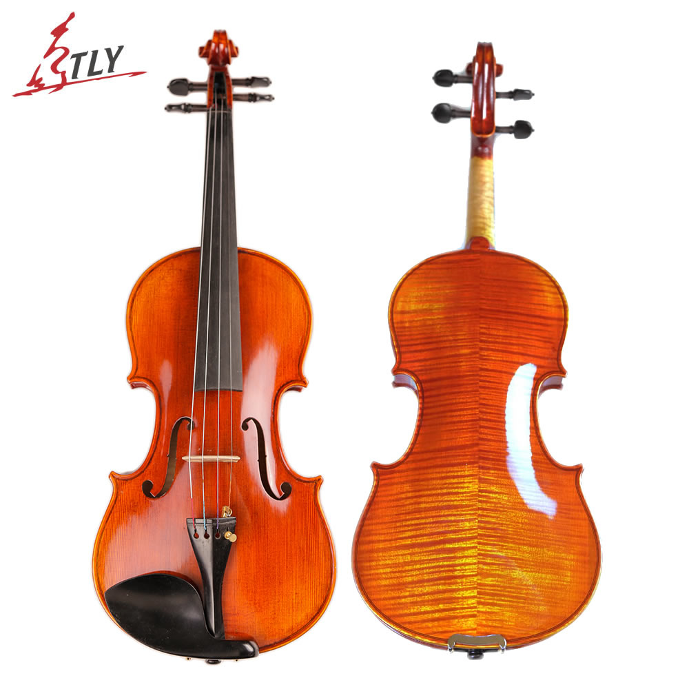 TONGLING Brand High-end Professional Violin 20 Years Old Naturally Dried Stripes Maple Hand-craft Spirit Varnish Violin 4/4 violins professional string instruments violin 4 4 natural stripes maple violon master hand craft violino with case bow rosin