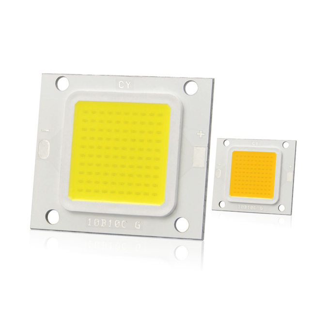 Long Life Real Watt Cob Led Square Lamp Chip 27 36v 10w 20w 30w 50w 70w Diy For Lawn Light Spotlight Garden Decor Luminaria Bulb