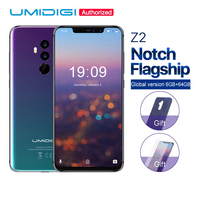 UMIDIGI Z2 6.2Notch Full Screen Android 8.1 smartphone Face Unlock 6GB 64GB P23 Octa Core 16MP+8MP 4G LTE mobile phone touch ID