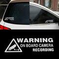 Heißer Warnung Auf Board Kamera Aufnahme Auto Fenster Lkw Auto Vinyl Auto Aufkleber Aufkleber Wasserdichte Decor Geschenk Zubehör