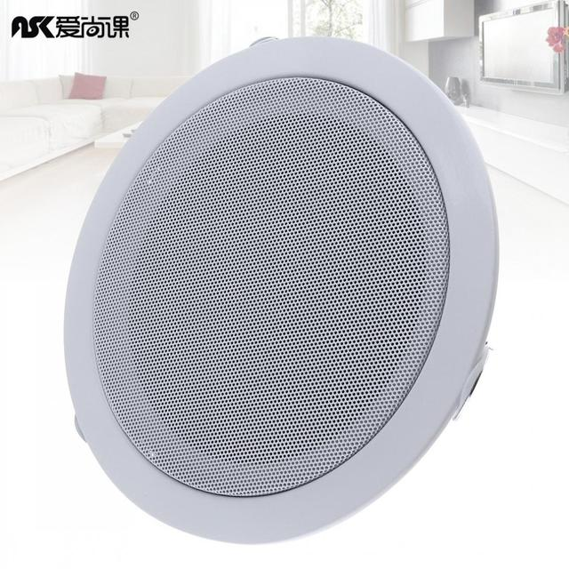 6 Inch 15W Metal Microphone Input USB MP3 Player Ceiling Speaker Public Broadcast Background Music Speaker for Home Supermarket