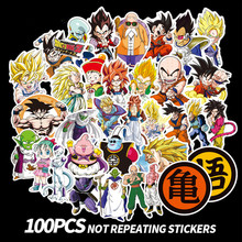 100Pcs/Set Anime Dragon Ball Stickers Super Saiyan Goku Decal For Snowboard Luggage Car Fridge Laptop Moto DIY sticker
