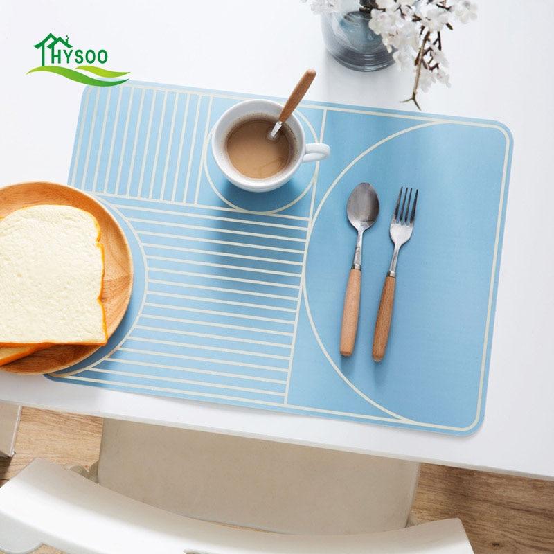 Waterproof rectangular table mat plastic plate bowl mats creative anti-hot pad pot mat insulation pad