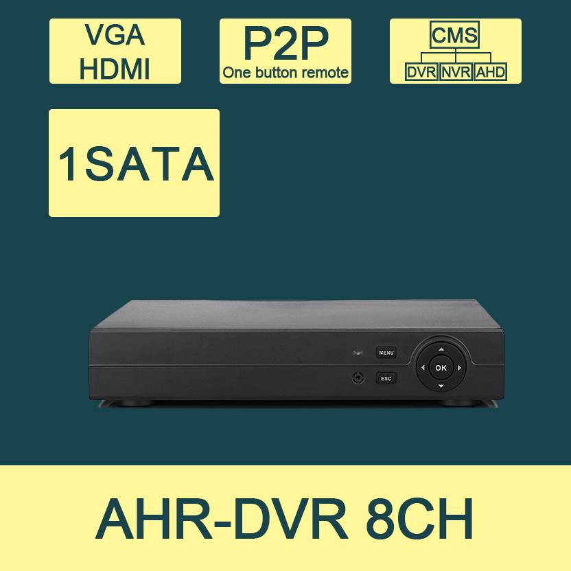 Free Shipping:CCTV 8CH AHD DVR  AHDM// AHDL// NVR 3 In 1 Super DVR HDMI 1080P