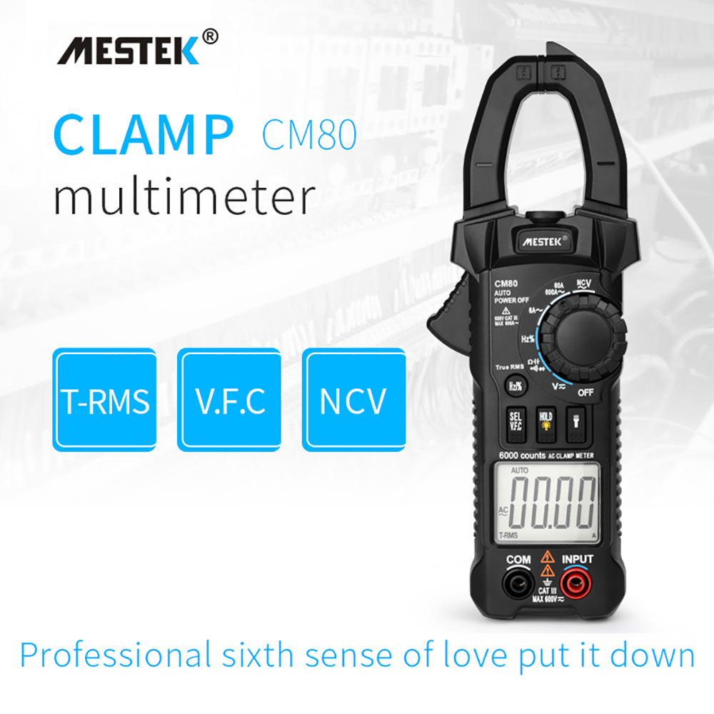MESTEK Digital Clamp Meter Multimetro Pinza di Corrente Pinze AC/DC Tensione di Resistenza Tester di Misura Strumenti di Diagnostica-Strumento di CM80