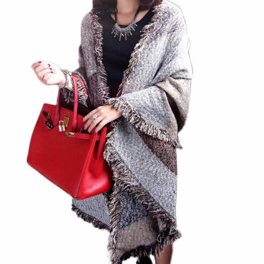 Modern Fashion Women s Large font b Tartan b font Scarf Shawl Stole Plaid Woollen Cloth