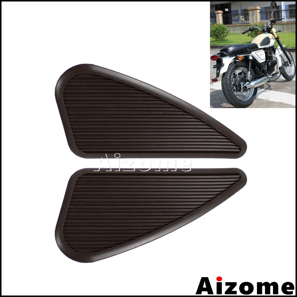 Universal Cafe Racer Tank Traction Pads Vintage Gas Tank Knee Grip Protector Stickers For Honda Harley Sportster Dyna Softail
