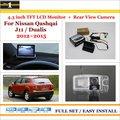 """Car Câmera Traseira de Backup + 4.3 """"TFT LCD Monitor de Tela = 2 em 1 Sistema de Estacionamento Retrovisor Para Nissan Qashqai J11/Dualis 2012 ~ 2015"""
