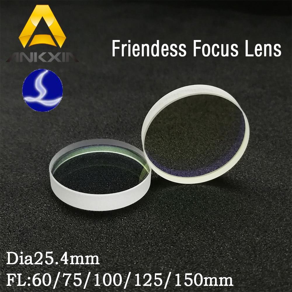 1 pièces Friendess Fiber Lentille de Focalisation Laser Axé Collimateur D25.4mm FL60 75 100 125 150mm