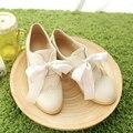 Большой размер 34-43 женская обувь на низком каблуке Весна/Осень Мелкая Рот Повседневная обувь мода Сладкий стиль Лентой удобная обувь