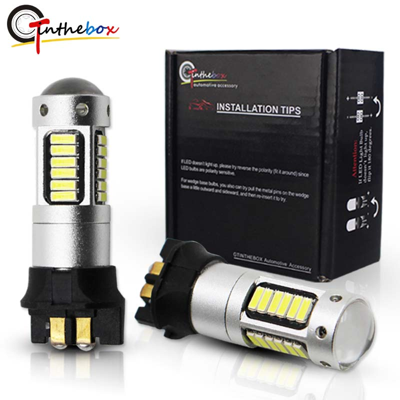 Gtinthebox Canbus OBC PW24W PWY24W LED Bulbs For Audi BMW Volkswagen Turn Signal Lights or Daytime Running Lights White yellow 2pcs high power xenon white led 2835 smd h15 led bulbs for audi bmw mercedes volkswagen for fog daytime running external lights