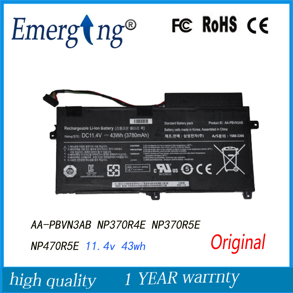 11.4V 43WH New Original  Laptop Battery For  SAMSUNG 5 Series 510R NP470 NP470R5E AA-PBVN3AB BA43-00358A
