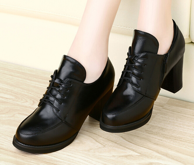 fall 2014 new shoes high heels thick with