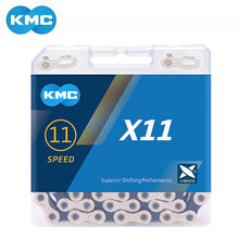 Kmc x11.93 x11 mtb bicicleta de estrada corrente 118l 11 velocidade mountain bike corrente com caixa original e botão mágico