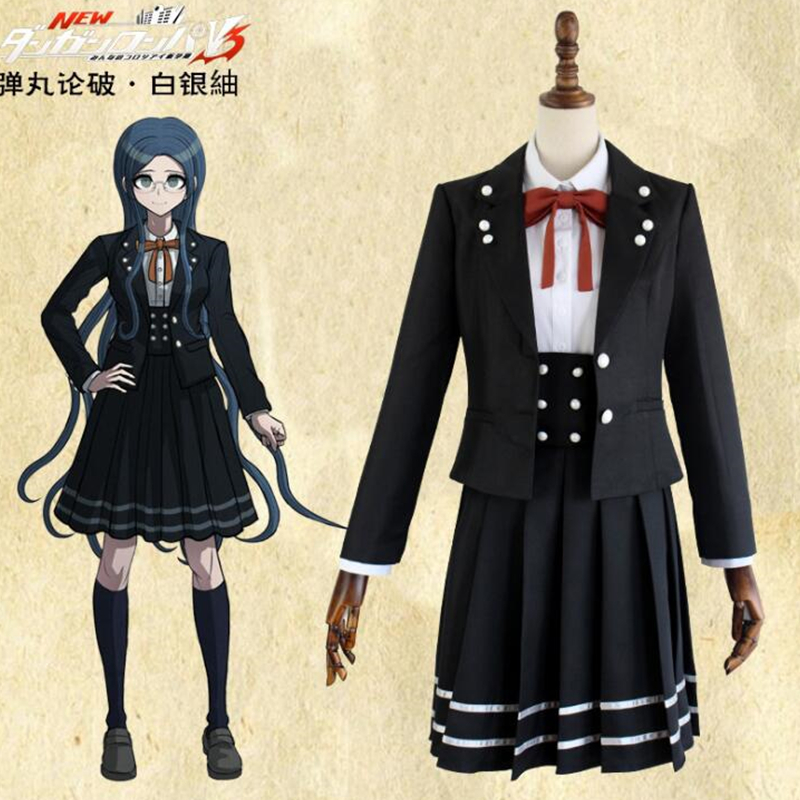 Shirogane Tsumugi Danganronpa V3: Killing Harmony cosplay uniform Lolita costume Combat suit Performance Costumes