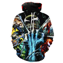 Cosplay anime Hoodies for Movie Venom sweatshirt Men Women 3D Spiderman fortnited Sweatshirts Jacket hoodie