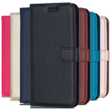 Solid Color Leather Wallet Case For iPhone