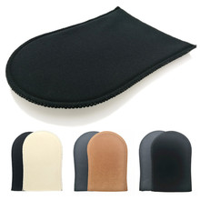 Self tan applicator mitt reusable tanning glove self tanner self tan mitts for sunless fake tan and tanning lotion cream mousses cheap Beauty Tan glove for tanning cream Makeup Remover makeup sponge glove removal Self tanner bronzers