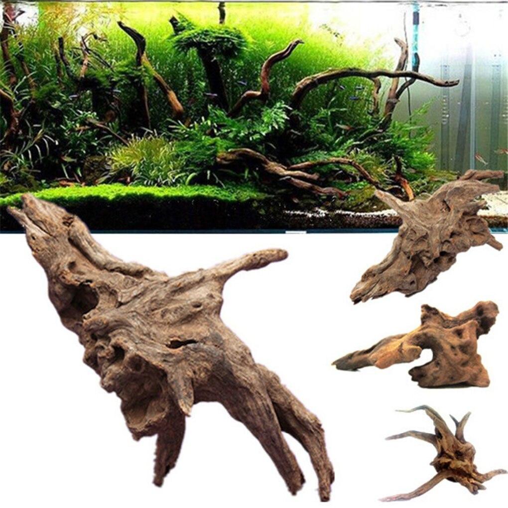 nueva natural log madera flotante acuario decoracin pecera plantas de rboles de tronco de madera