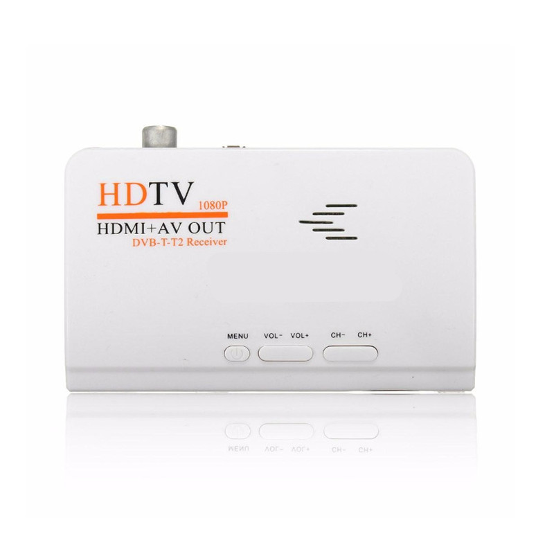 HDMI HD 1080P Without VGA Version DVB-T2 TV Box AV CVBS Tuner Receiver Remote Control Compatible With CRT and LCD