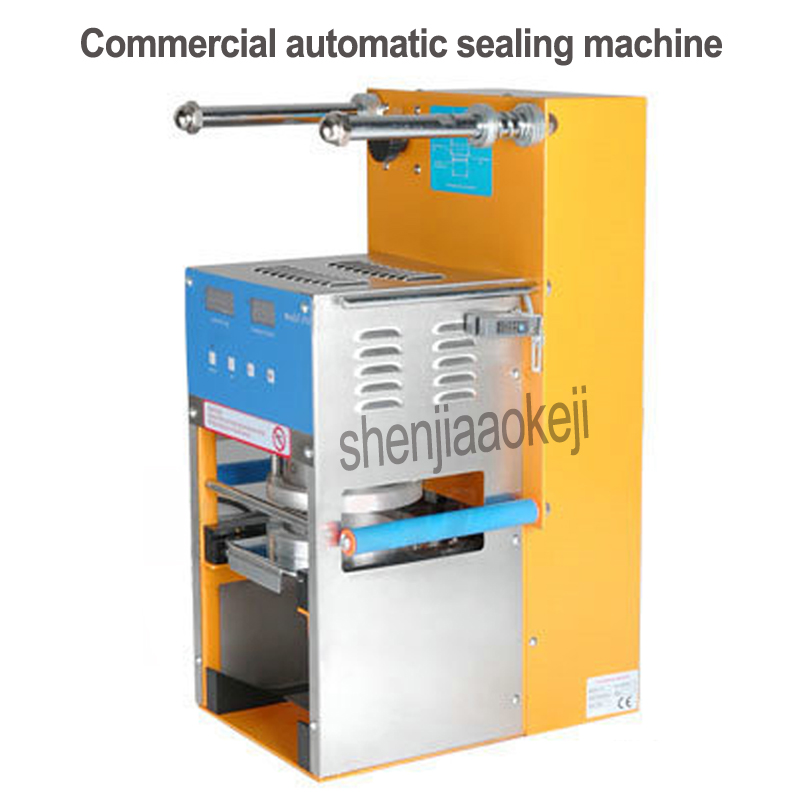 110v/220v Commercial Automatic Sealing Machine Milk-Tea Sealing Machine Stainless Steel Bubble Tea Sealing Machine Cup Sealer
