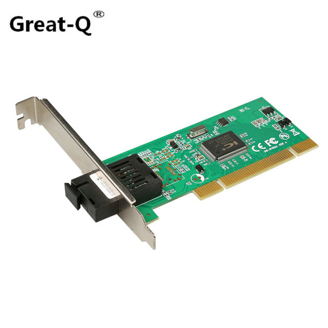 Great-Q  PCI Fiber 100M network card SC single mode Single  fiber transceiver Media converter IP-100A 1310/1550