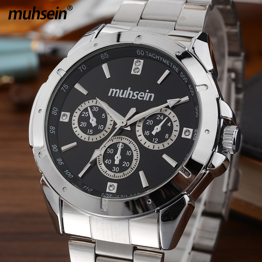 Muhsein  fasion & Casual Business Stainless Steel Quartz Watch Waterproof Free Shipping Noble Watches For Men потолочная подвесная люстра коллекция champa 879067 хром черный lightstar лайтстар