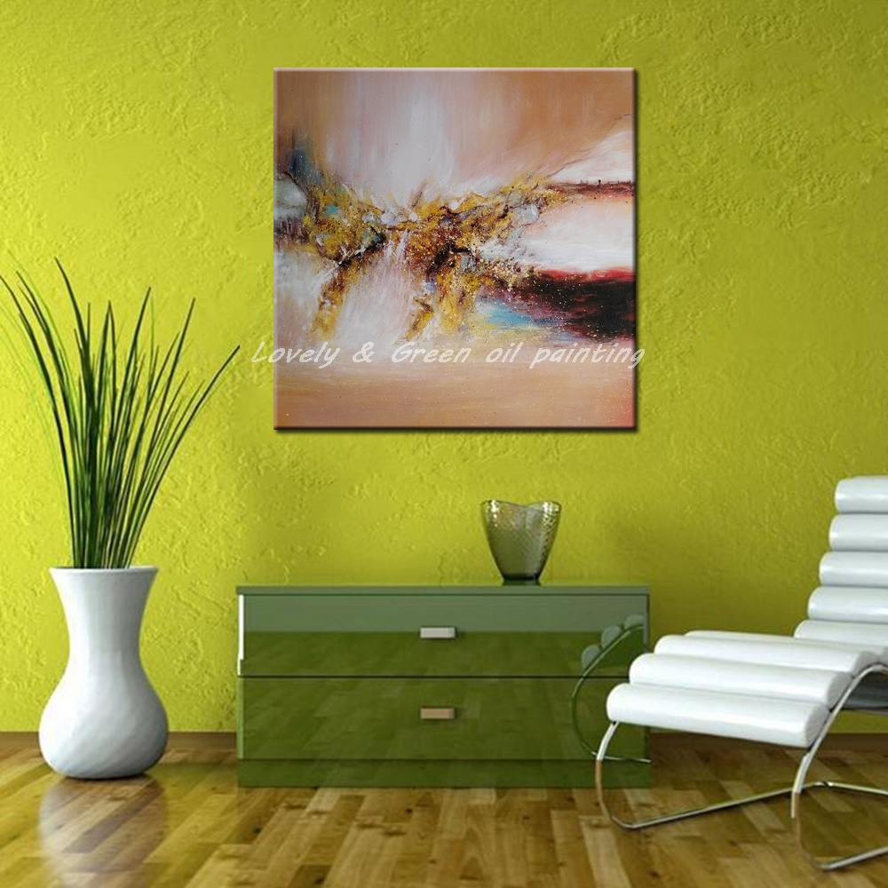 100% Hand Painted Abstract Oil Painting On Canvas Modern Wall Art ...