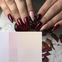 1pc Gold 3D Nail Sticker Curve Stripe Lines Nails Stickers Adhesive Striping Tape Art Decals Rose Silver