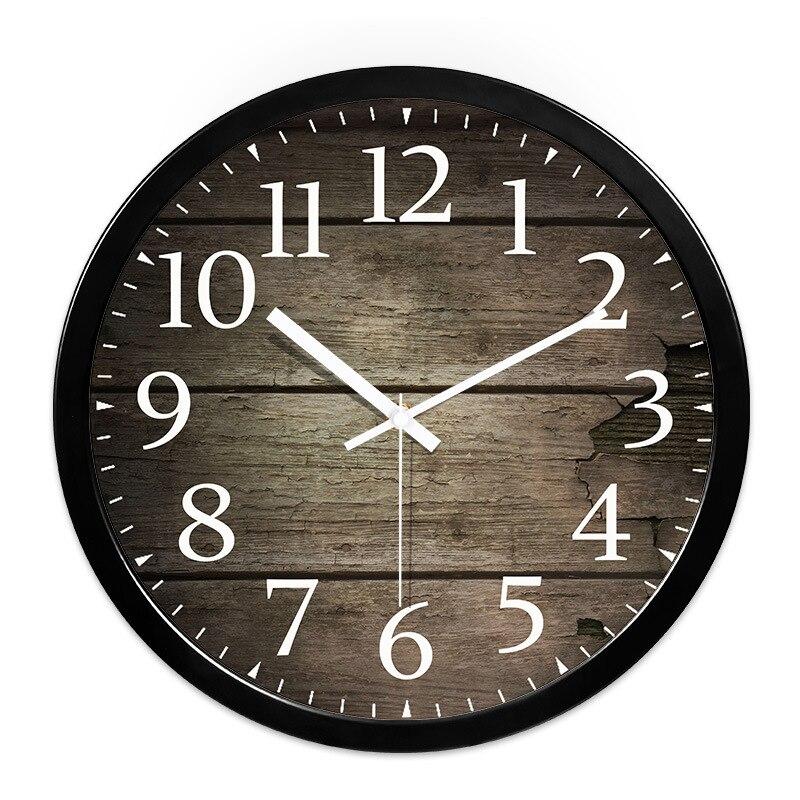 Wohnzimmer Grosse Wanduhr Holz Muster Wand Uhr Freizeit Persnlichkeit Wohnkultur Zubehr 10 Inch 12