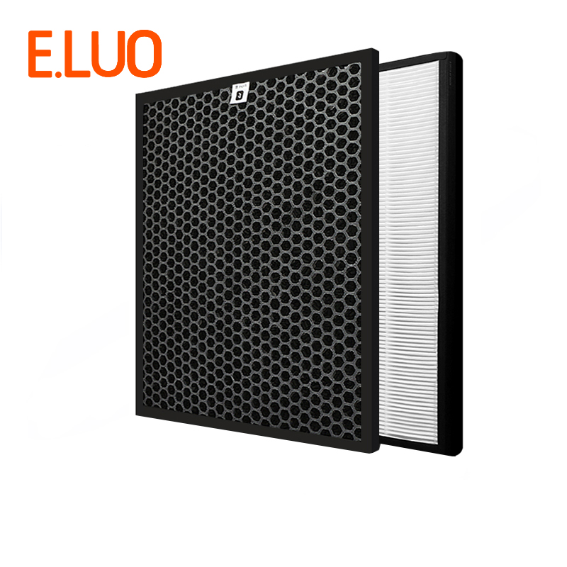 365*280*10mm Activated Carbon Filter + 365*280*25mm HEPA for AC4072 AC4014 AC4083 AC4084 AC4085 Air Purifier Parts