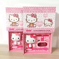 (1pc) pink rose Hello Kitty Gift box Power Bank 5000mAh USB External Backup Battery Portable Charger PowerBank for Unicersal