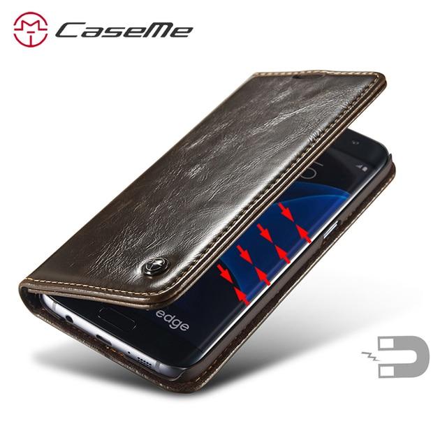 buy popular 546ef 410ce US $10.58 |Caseme Leather For Samsung S7 edge Flip Case Magnetic Cover For  Samsung Galaxy S7 edge Flip Case Cover For Samsung Galaxy S7-in Flip Cases  ...