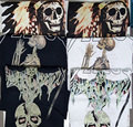 2016 Summer skeleton ,Indian, reaper t shirt Men Short-Sleeved T-Shirt Printing Jesus Shirt Tee Kanye West ShirtsTops Yeezy