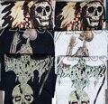 2016 Verão esqueleto, indiano, ceifeiro t shirt Homens Curto-de Mangas Compridas T-Shirt Camisa Impressão Jesus Tee Kanye West Yeezy ShirtsTops