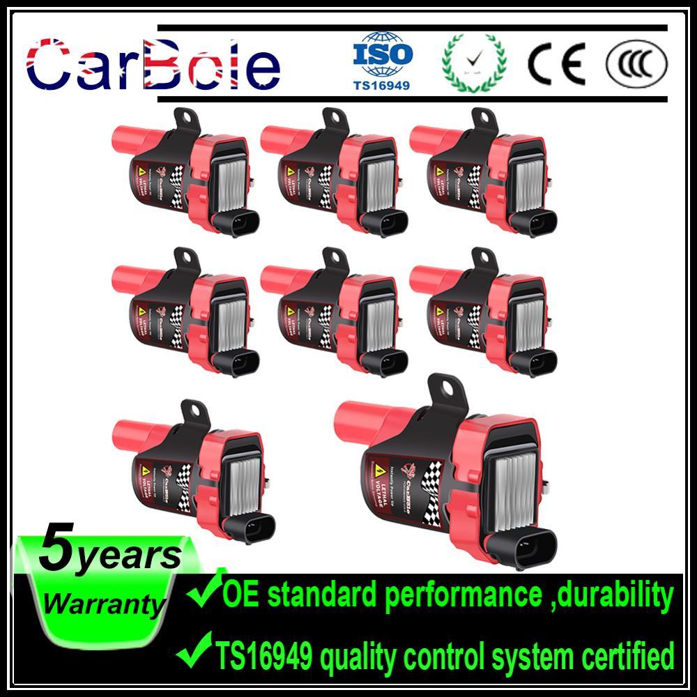 Carbole Novo 8 Pcs Bobinas De Ignição Plug Pack Para Chevrolet Para GMC Para Buick Para Isuzu 4.3L 5.3L 6.0L D585