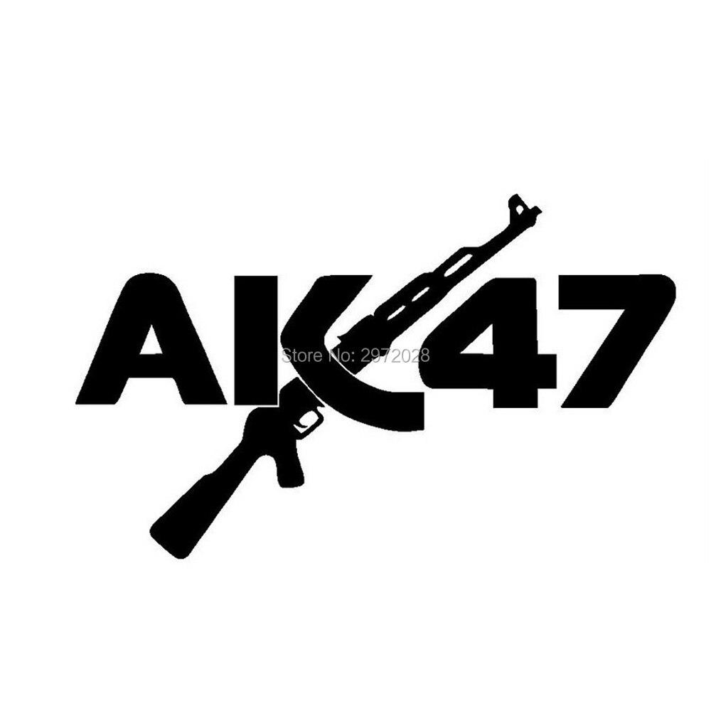 New design creative cartoon car stickers ak47 gun auto decal car bumper sticker reflective pattern vinyl