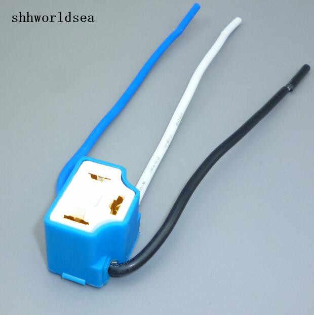 Shhworldsea 2 шт./лот H4 9003 лампы Авто H4 женский угол изгиба автомобильный разъем