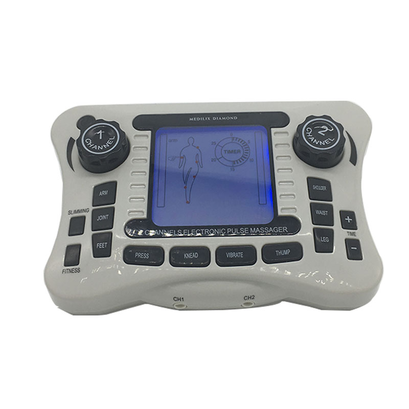 NEW Electrical Dual Channel Pain Relief Nerve Muscle Stimulator TENS Machine Digital Therapy Massager Body Knee