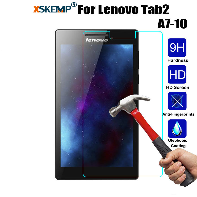 Tempered Glass Screen Protector For <font><b>Lenovo</b></font> Tab 2 <font><b>A7</b></font>-10 <font><b>A7</b></font>-<font><b>10F</b></font> <font><b>A7</b></font>-20 <font><b>A7</b></font>-20F <font><b>A7</b></font>-30 <font><b>A7</b></font>-30HC <font><b>A7</b></font>-30DC Explosion proof Tablet Glass image