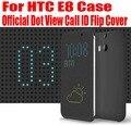 Розничная Новый Официальный Dot Посмотреть Call ID ТПУ Кремния Case Откидная Крышка Для HTC E8 Case Нет: E801