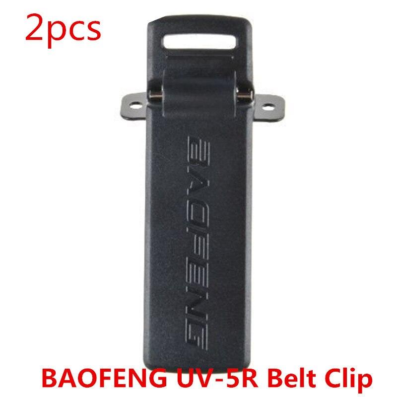 imágenes para 2 unids/lote 2way radio original baofeng uv5r clip de cinturón para bao feng uv-5r 5ra 5rb 5rc 5re 5 5replus tyt thf8 walkie talkie pofung jamón