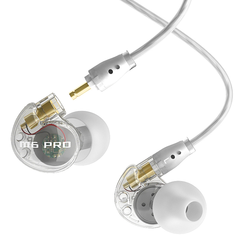 MEE audio M6 PRO Universal-Fit Noise-Isolating Musician's In-Ear Monitors with Detachable Cables dhl free 2pcs black white m6 pro universal 3 5mm wired in ear earphone noise isolating musician monitors brand new headphones